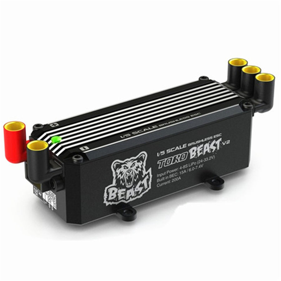 New Original SKYRC Toro Beast V2 200A Brushless ESC With BEC For 1/6 1/5 Off-road On-road Truck Buggy RC Car Wholesale