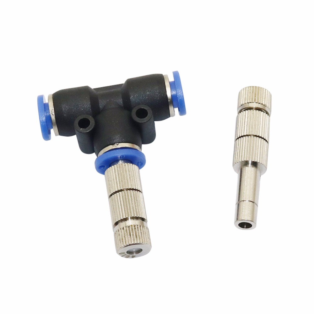 5pcs 5-15bar Mist Cooling Slip Lock Nozzle With Filter 6mm Low Pressure Micro-nozzles Connectors Garden Irrigation Sprayers