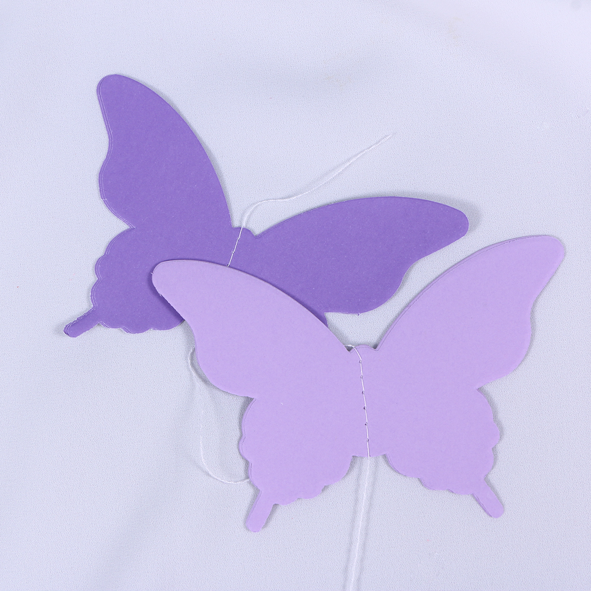 3m/9.8ft Paper Garland Butterfly Banner 3D Butterfly Bunting Garland for Wedding Birthday Party Baby Shower