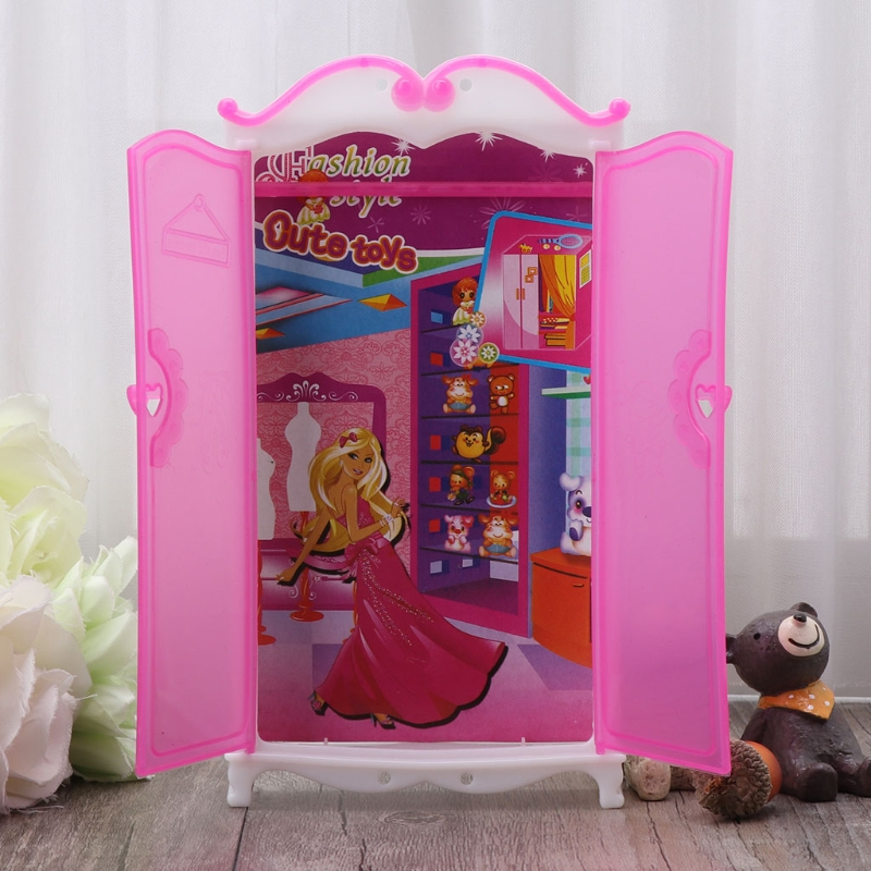 1 Pc Princess Furniture Wardrobe Dolls Toys Doll  Closet Toy Accessories Doll House Accessories New Arrival