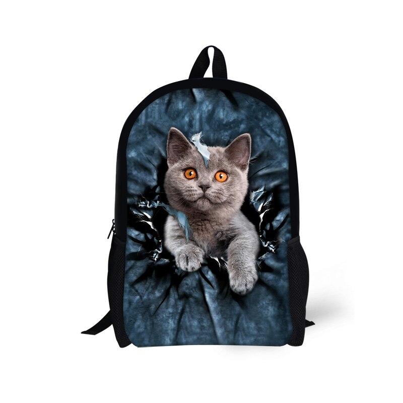2265e2a3ec6f6 Na co dzień Kobiety Plecak Cute Cat Dog Drukarnie Plecaki Szkolne dla Nastoletnich  Dziewcząt Dzieci Dzieci Mochila feminina Bolsas Bagpack