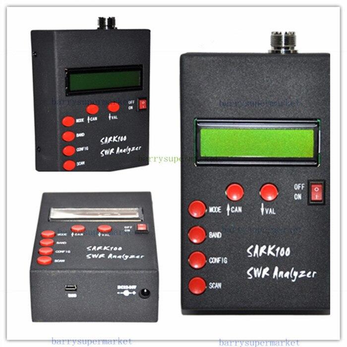 SARK100 ANT SWR Antenna Analyzer Meter tester monitor checker detector 1-60MHz For HAM Radio Hobbists mini60 antenna analyzer meter 1 60mhz sark100 ad9851 hf ant swr for ham radio hobbists hot