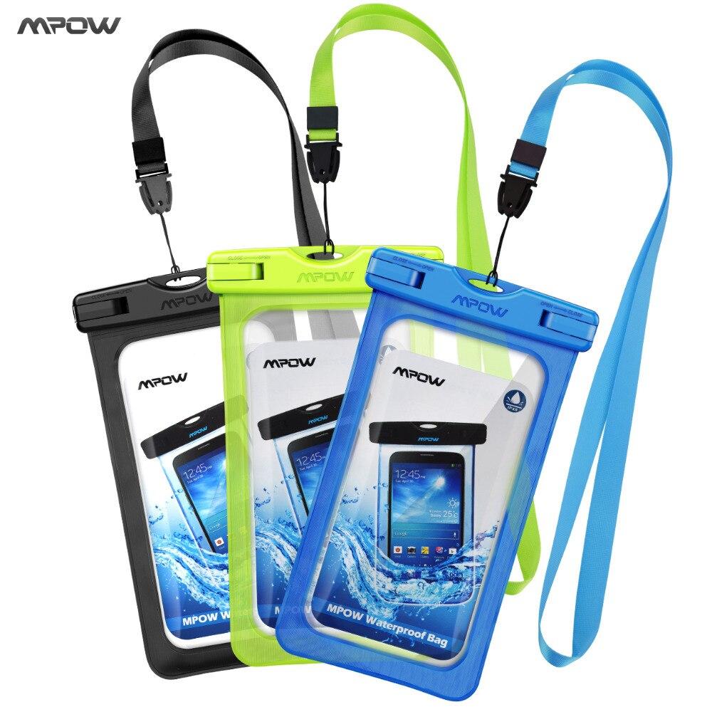imágenes para Mpow Caja del filtro Impermeable Universal Del Teléfono Móvil Bolsa Caso Fácil Tomar Fotos Bajo El Agua Natación para iphone7/7 plus Galaxy/LG/HTC atc
