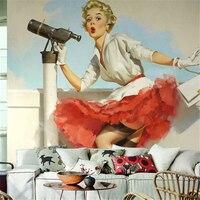 Nostalgic Art Wallpaper Woven Wallpaper 3D Large Mural Of Marilyn Monroe Custom Sizes Papel De Parede