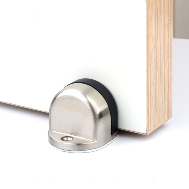 Superb Practical Rubber Door Stopper Door Stops Brushed Zinc Alloy Floor Mounted  Door Stop Door Furniture Hardware