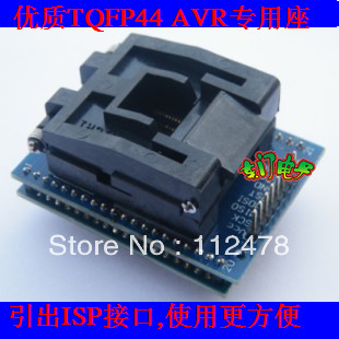 Free shipping LQFP44 TQFP44 to DIP40 Test block for AVR ISP Interface IC adapter Program ...