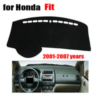 RKAC Car dashboard cover mat For Honda old Fit 2001 to 2007 dash cover left hand drive Avoid light pad desk pad Auto accessories