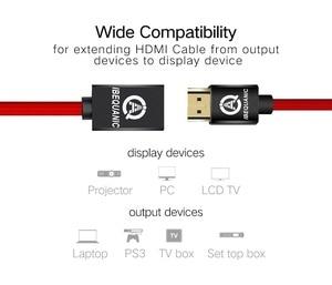 Image 2 - HDMI כבל מאריך זכר לנקבה 30CM/50CM/1M/2M/3M HDMI 4K 3D 1.4v HDMI מורחב כבל עבור HD הטלוויזיה LCD מחשב נייד PS3 מקרן