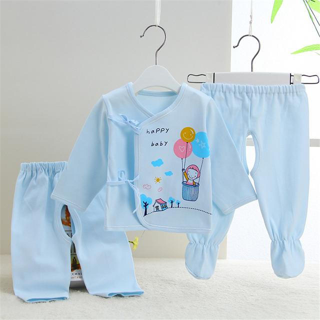 Ropa de Bebé recién nacido Unisex Conjunto Sirena de Tres Piezas Meses Niño Ropa Para Bebés Ropa de la Historieta Conjunto Boutique de Invierno 607005