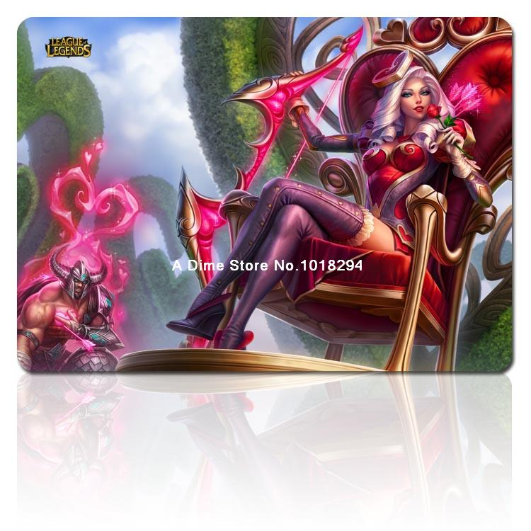 lol mouse pad Heartseeker Ashe mousepad laptop Legends mouse pad gear notbook computer gaming mouse pad gamer play mats
