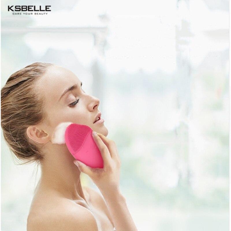 Elektrische Gesicht Reiniger Vibrieren Poren Sauber Silikon Reinigung Pinsel Massager Gesichts Vibration Hautpflege Spa Massage
