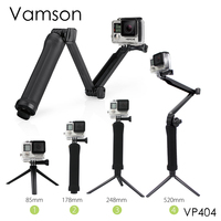 Go Pro Accessories Collapsible 3 Way Monopod Mount Grip Extension Arm Tripod For Gopro Hero 4