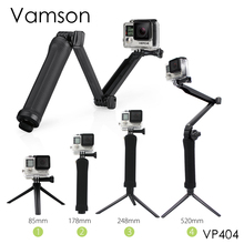 Vamson for Gopro Accessories Tripod 3 Way Monopod Mount Extension Arm Tripod for Gopro Hero5 4 3+2 xiaomi yi SJ4000 Camera VP404