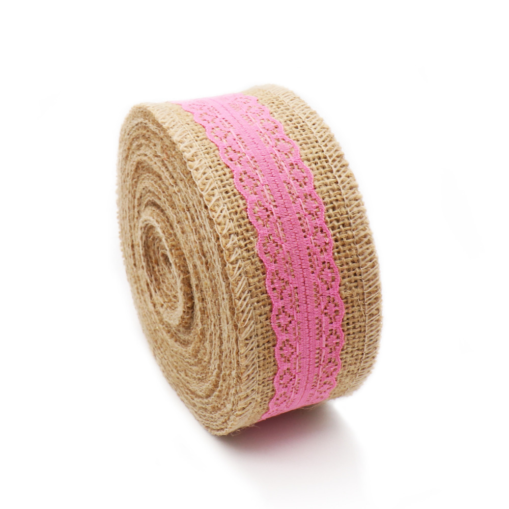 5m Rustic Wedding Centerpieces Decoration Crafts Jute Ribbon