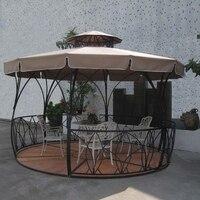 Dia 3.5 meter metal iron deluxe outdoor pavilion gazebos coat tent canopy for garden outdoor furniture shade