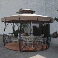 Dia 3.5 meter metal iron deluxe outdoor pavilion gazebos coat tent canopy for garden outdoor furniture shade