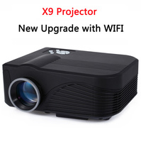 New Upgrade x9 wifi LCD Handheld 3D home cinema projector Native 800x480 Support 1080 Free ship Home theater system