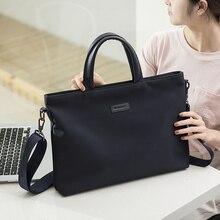 купить Portable 15.6 inch Laptop Bag Business Notebook Handbag Case For Macbook Air Pro 11 12 13 15 Retina Shoulder Messenger Bag дешево