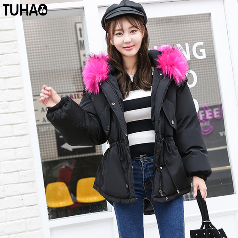 TUHAO 2017 New Women Long Winter Bat Sleeved Jacket Thick Warm Cotton Coat Pure Color Fur Hooded Parka Fashion Streetwear LW14 tuhao lady down cotton pure color manteau femme hiver thick warm jackets 2017 new autumn winter women hooded long coats lw20