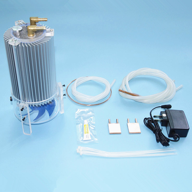 Diy Laptop CPU water liquid cooling cooler radiator kit Copper Dissipate Heat sink water Pumps+water tower+Heat block sets 75 29 3 15 2mm pure copper radiator copper cooling fins copper fin can be diy longer heat sink radiactor fin coliing fin