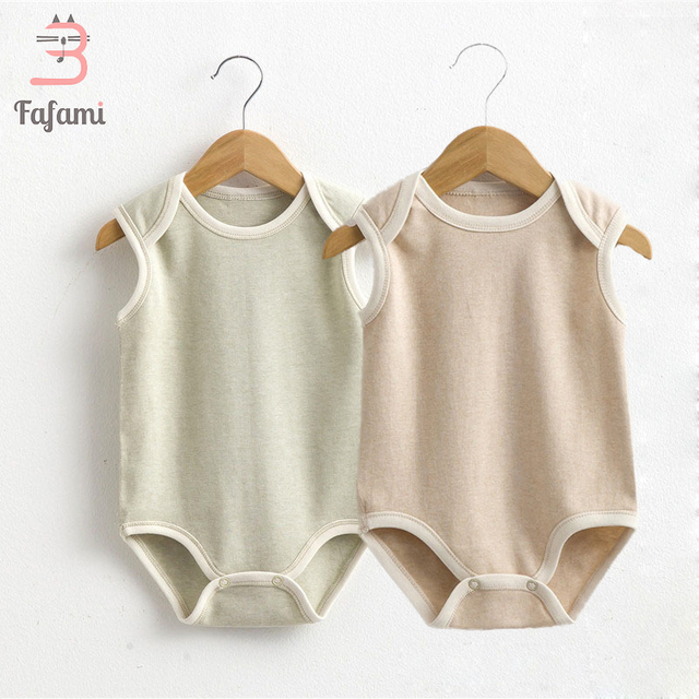 e1f144ef6 2 pcs lot Baby Clothes Newborn Baby Bodysuit Organic Cotton Babies ...