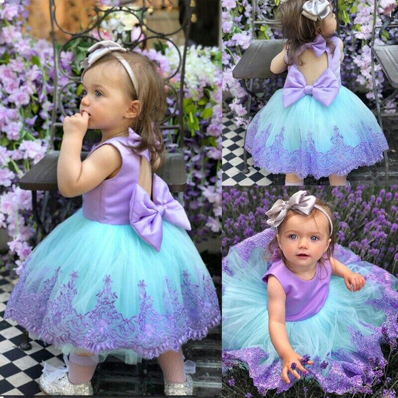 6M-5T New   Flower     Girl     Dress   Party Birthday wedding princess Toddler baby   Girls   Clothes Children   Girl     Dresses