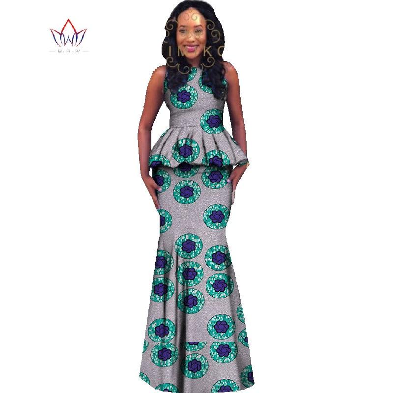 watch discount shop good selling € 44.7 10% de réduction|Style africain femmes 2 pièce jupe ensemble nouveau  2018 printemps Dashiki grande taille vêtements africains haut court et ...