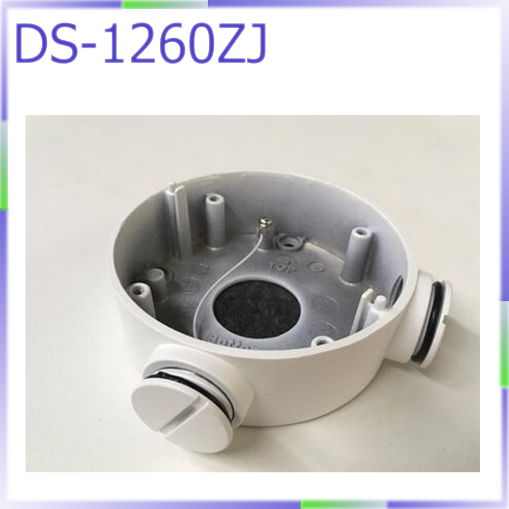 CCTV Camera bracket DS-1260ZJ junction box for DS-2CD2642FWD-IWS and some other bullet cameras ds 1602zj box pole ptz camera vertical pole mount bracket with junction box