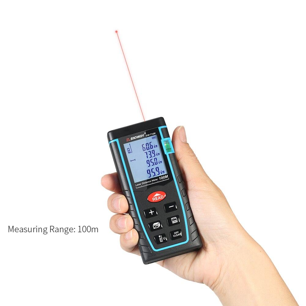 100 M Laser Afstandsmeter Bouw Gereedschap Digitale Laser Afstand Meter Range Finder Laser Meetlint 30 Groep Data Opslag