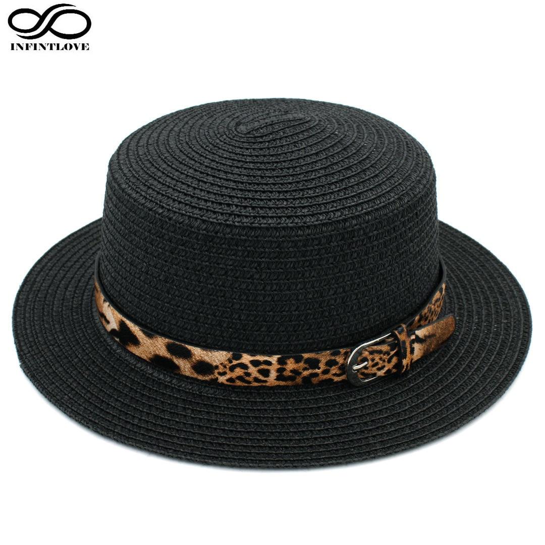 LUCKYLIANJI moteriškos valties kepurė šiaudinė skrybėlė vasaros - Drabužių priedai