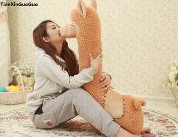 stuffed toy large 95cm brown alpaca plush toy soft doll hugging pillow birthday gift s1042