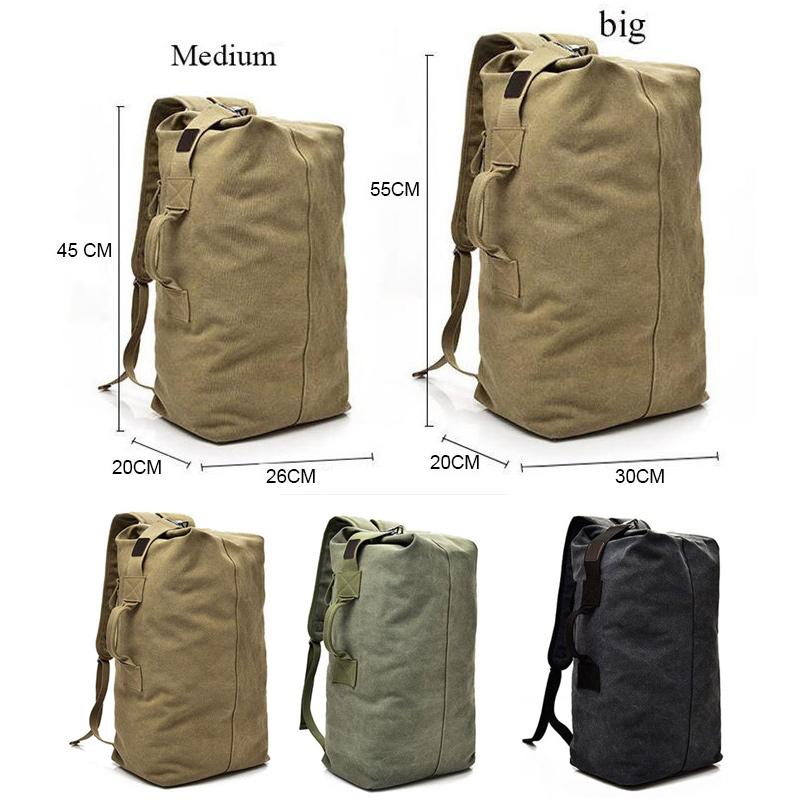 Outdoor Khaki Big Canapa Green Della Dimensioni Uomini Xa188wa Grandi Esercito Tela Bacpkack Borse Borsa A Secchiello Dei army Viaggio Medium Sport black Multifunzionale Big Spalla khaki Medium Zaini Di Medium Big black Militare army Bagagli Bxdqf
