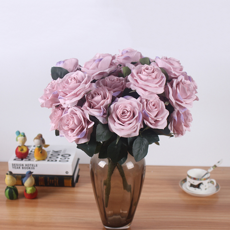 Artificial Silk 1 Bunch French Rose Artificial Flower For Wedding And Party Accessory 24