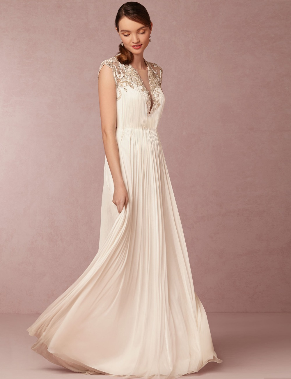 Online get cheap real simple bride for Real simple wedding dresses