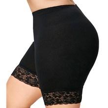 VIIANLES Sexy Shorts Summer New Women Casual Cotton Fashion Ladies Lace Black High Waist Elastic Plus Size 4XL 5XL