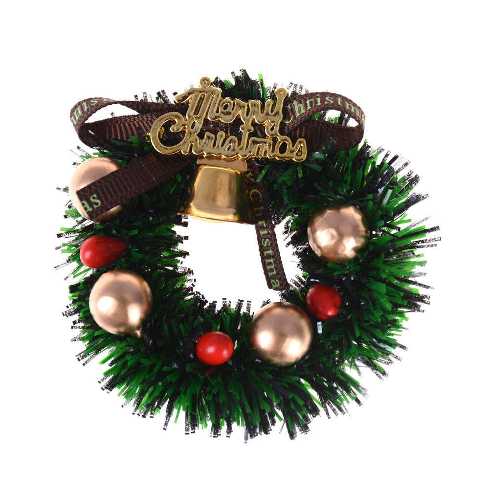 1Pc   1:12 Scale Dollhouse mini Miniature Christmas Wreath Garland Christmas Ornaments