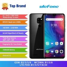 "Ulefone móvil Note 7P con 3 cámaras traseras, 9,0 "", 3GB + 32GB, MT6761VW, 6,1 mAh, Android 3500"