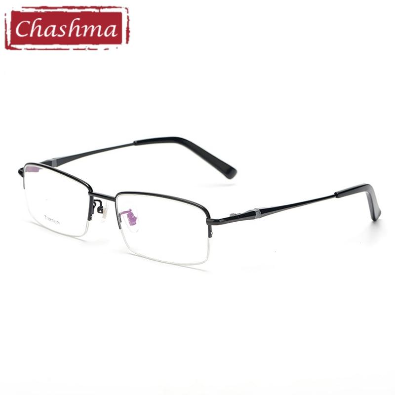 12f571a4b6fe8 Titânio puro Óculos de Armação Homens Armações de óculos de Olho para  Homens Specs Óculos armacao