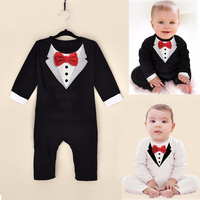 Trouser Suit For The Boy New Newborn Baby Rompers Clothing Gentleman Bow Leisure Infant Toddler Overalls