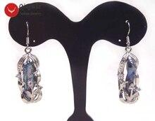 ФОТО  big 8*22mm black baroque natural freshwater pearl dangle earring hook-ear446 wholesale/retail free shipping