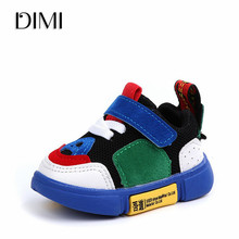 DIMI 2018 New Sport Kids Baby Shoes Soft Non-slip Infant First Walkers Mesh Breathable Baby Sneakers For Girl Boy Toddler Shoes