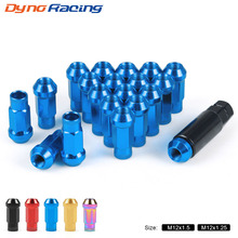 20PCS M12 X 1.5 M12 X 1.25 Wheel Lug Nuts 47mm Iron Racing Lock Lug Wheel Nuts Screw купить недорого в Москве