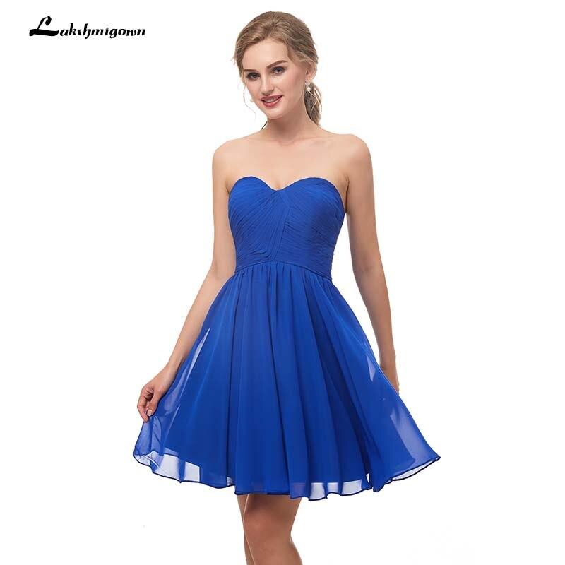 Cheap Royal Blue Homecoming   Dresses   Chiffon Sweetheart Pleats Bodice Short Sweetheart Vestido De Formatura Under 50