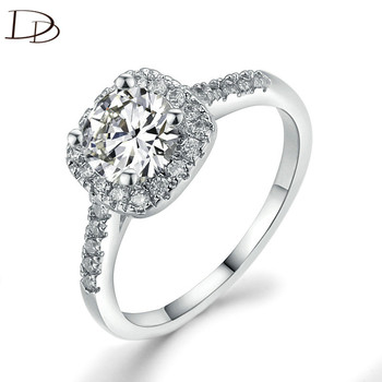 vintage square 925 sterling silver rings for women engagement wedding accessories luxury aaa cz anel bijoux femme bague DD035