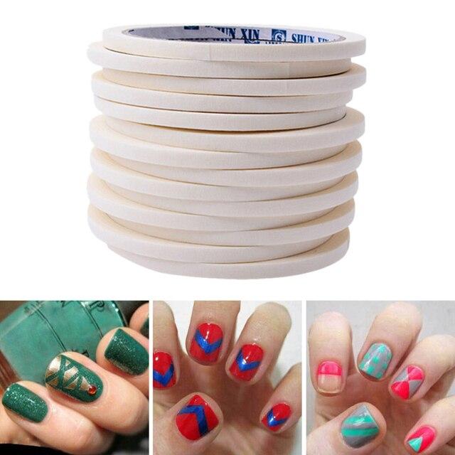 12pcs 05cm1700m Manicure 3d Nail Art Tips Nails Stripe Tape Rolls
