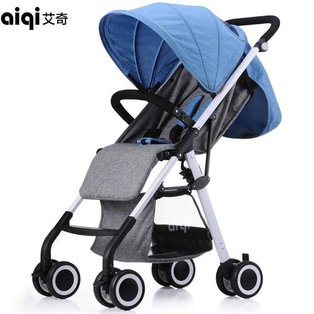 Aiqi carrinho carrinho de bebê carrinho de bebê carrinho de liga de alumínio portátil dobrável carrinhos de alta paisagem