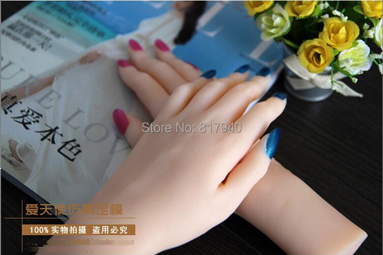 New arrival!one pair realistic silicone female mannequin hands for ring&jewelry display ,Model Nail Art Hand