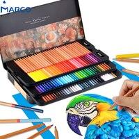 Marco 100 цвет карандаши Professional жирной Lapis De Cor Profissional для рисования эскиз набор карандашей товары для рукоделия Бесплатная доставка
