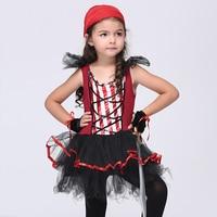 子供キッズ衣装ハロウィンカーニバル服ベビー女の子海賊コスプレフェスティバル服子供パーティードレス手袋セッ