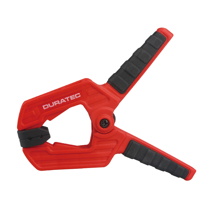 4, 4.5 inch DURATEC Adjustable Clamping Force Heavy Duty Plastic Spring Clamp for Woodworking Apply to Home Improvement Projects and DIY Works